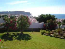 Garden with sea views and the Black Rock.