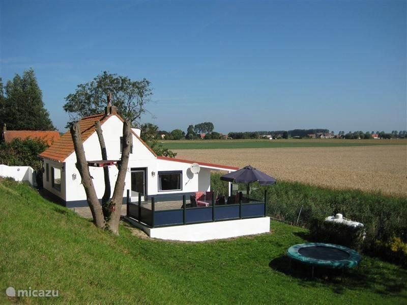 Vakantiehuis Nederland, Zeeland – vakantiehuis Vrijstaand dijkhuis