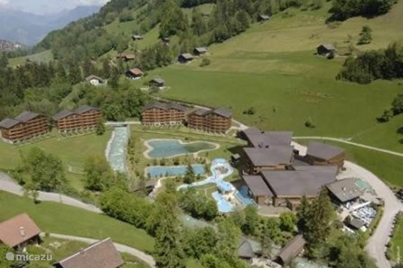 Vakantiehuis Zwitserland, Wallis, Val d'Illiez Appartement Luxe appartement in wellness resort