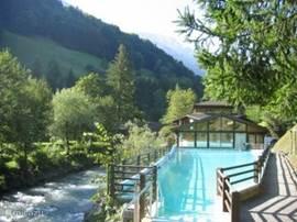 een van de zwembaden. In voorjaar 2009 komen er nieuwe binnen- en buitenbaden bij!