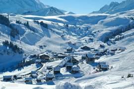 Port du Soleil skigebied Les Crosets nabij het Thermes Parc