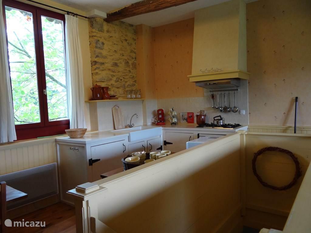 De keuken van gîe Balou