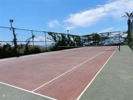 tenniscourt ter beschikking (mits kleine toelage)