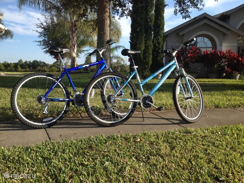 Ook onze fietsen kunt u gebruik van maken.  Voor 2 fietsen vragen wij een huurprijs van 50 euro per week