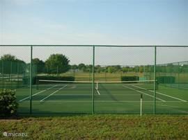 voor tennis liefhebbers vergeet vooral uw tennis tacket niet want u kunt gratis gebruik maken van de tennis baan aan het eind van de straat. Tevens is daar ook een basket bal veld en een voetbalveld heerlijk voor de kinderen.