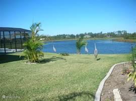 Links ziet u een klein stukje van het zwembad, erachter kunt u het schitterende uitzicht zien wat u heeft vanuit het zwembad en het terras.
