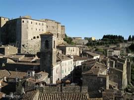 Sorano, uitzicht op Orsini Burcht