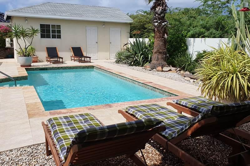 Ferienwohnung Aruba, Aruba Nord, Westpunt Bungalow Villa Safir 15 nach Norden.