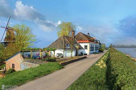 Vakantiehuis Nederland, Gelderland, Welsum vakantiehuis Magnifiek dijkhuis pal aan de IJssel