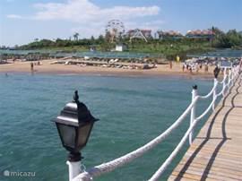 Strand met stijger op 1 km afstand in Colagli.