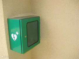 Our holiday villa is heart safe! An AED is available.