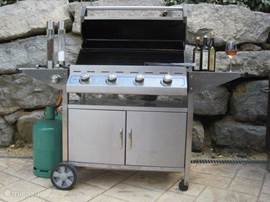 The outdoor kitchen, very popular with our guests! Enough gas available for all tenants.