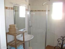 badkamer boven met royale inloopdouche