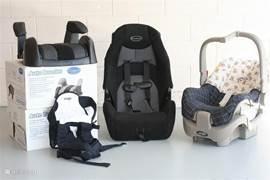 Voor huurders met kinderen zijn er autostoeltjes aanwezig voor (gratis) gebruik.