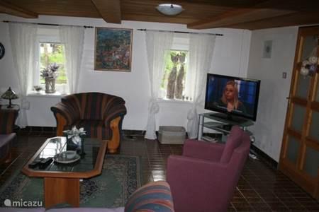 Comfortabele huiskamer met flatscreen (Nederlandse zenders)