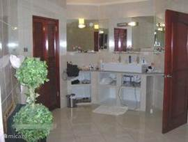 Bathroom in master bedroom. Very spacious, bath, shower, large walk in closet.