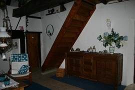 Stairs to the loft and bedroom