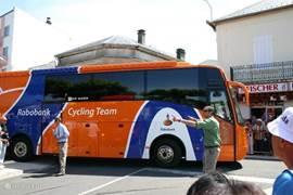 Rabo team, tijdens starts in Lannemezan
