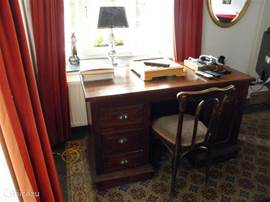 Desk in the living room overlooking Place Vendome