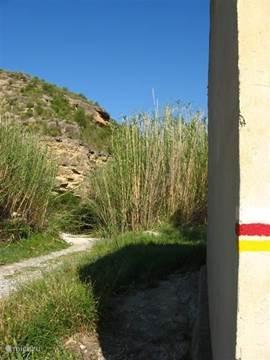 Uitgezette wandelroutes  rondom Calasparra, o.a. naar het Santuario en de rijstvelden.