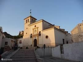 De kerk in Calasparra.