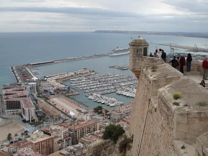kasteel Alicante, uitzicht op zee