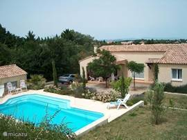 Our beautiful villa is situated on the outskirts of the village and adjacent to vineyards.