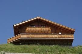 Chalet Panoramix in de zomer