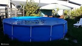 Het hele seizoen zwemmen in het nieuwe zwembad.
