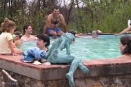 Zwembadje om af te koelen