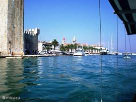 Haven en kade Trogir
