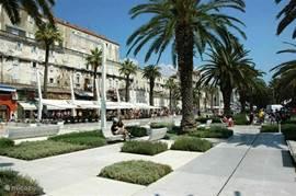 Split boulevard met stadsmuren