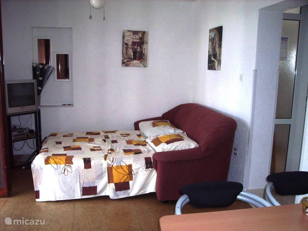 woonkamer met slaapsofa