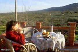 Heerlijk ontbijten op het dakterras