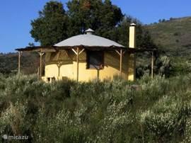 Huisje met veranda rondom