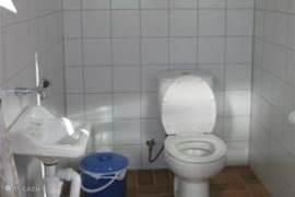 Toilet en douche in Casa de Banho