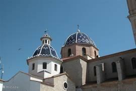 De kerk van Altea.