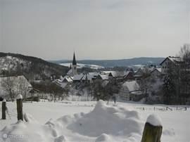 Dudinghausen in de sneeuw