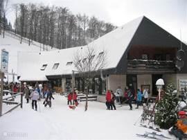 het plaatselijke skigebied