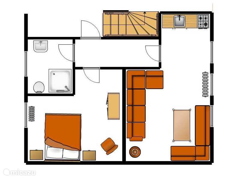 Map apartment type A for 2 persons