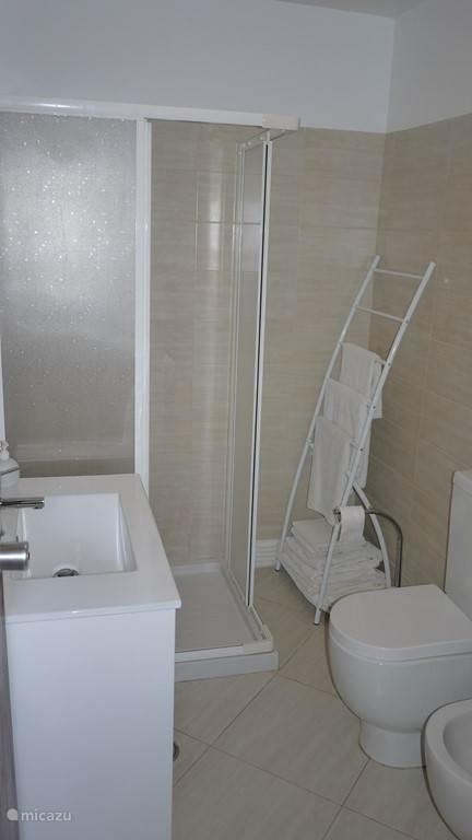 een van de twee identieke badkamers.