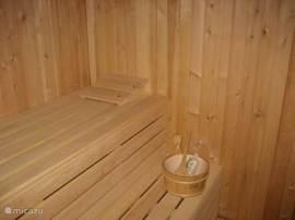 Sauna, ruimte voor 6 volwassenen