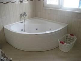 één van de badkamers heeft een whirlpool