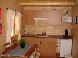 Kitchen space in the chalet