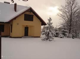 Dom Pannekoek na een sneeuwbuitje...