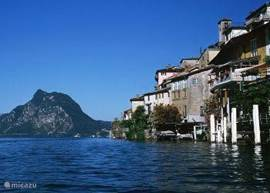 Gandria picturesque Italian village on the Lago di Lugano