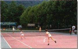 the tennis court on site.