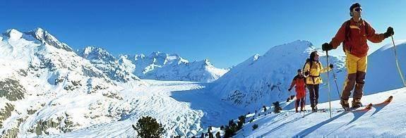 Wintersport in Aletschgebied