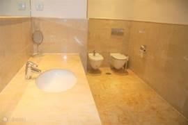 Grote badkamer, toilet en bidet