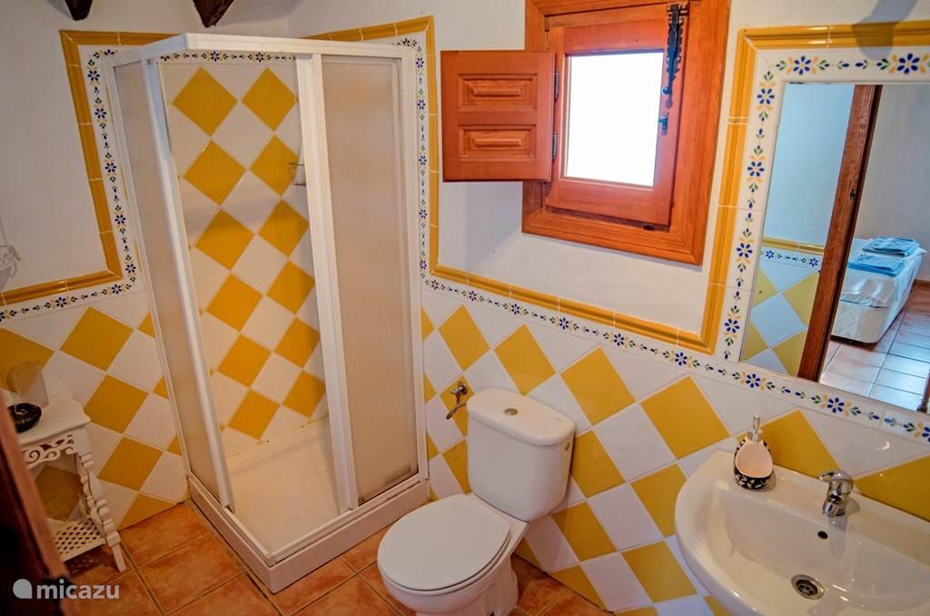 De badkamer die behoort tot de en suite slaapkamer